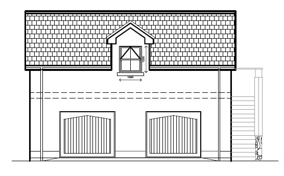 Laurelhill_View_-_Garage_-_Front_Elevation