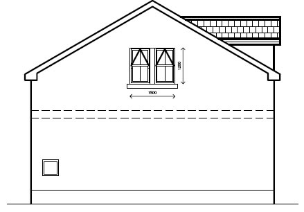 Laurelhill_View_-_Garage_-_Right_Side_Elevation