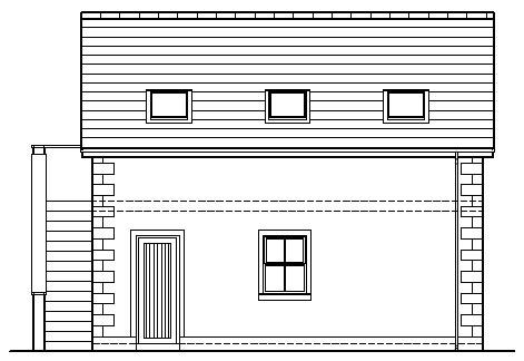 Shanks_Farmhouse_-_Garage_-_Rear_Side_Elevation