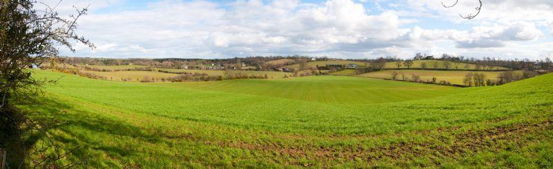 Views of farmland along Monree Road